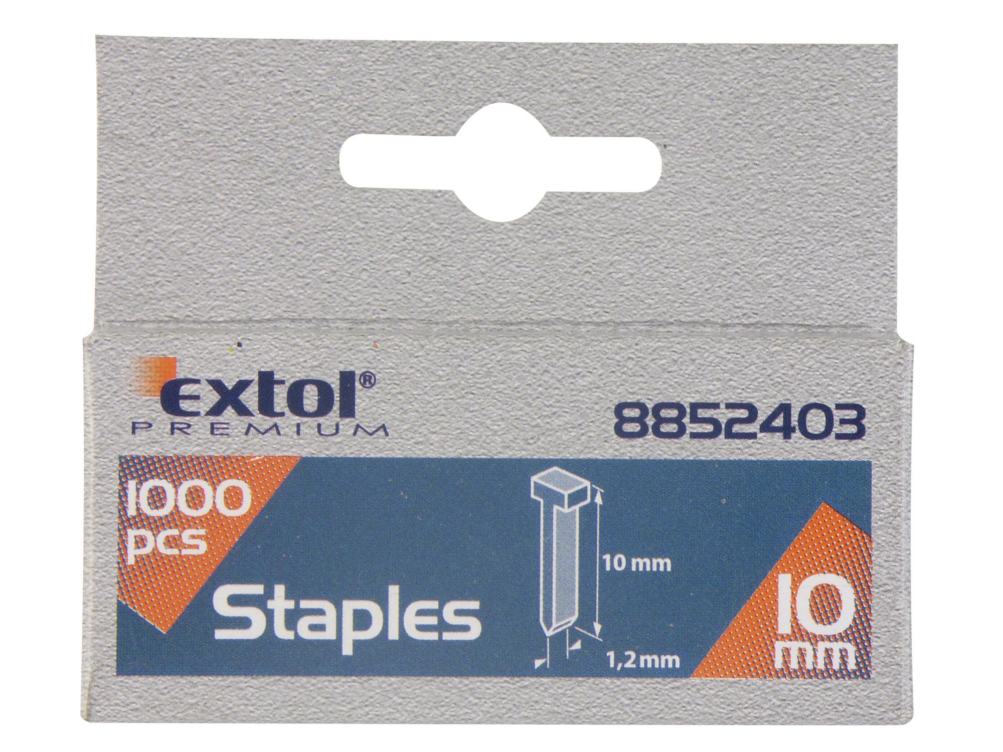Hřebíky, balení 1000ks, 10mm, 2,0x0,52x1,2mm EXTOL PREMIUM 8852403
