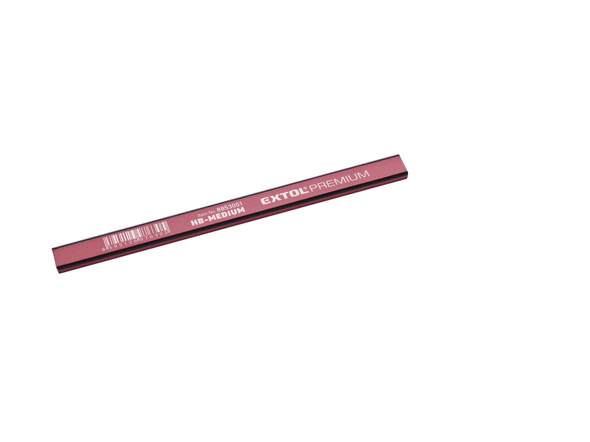 Tužka tesařská PROFI, 175mm středně tvrdá-HB EXTOL PREMIUM 8853001