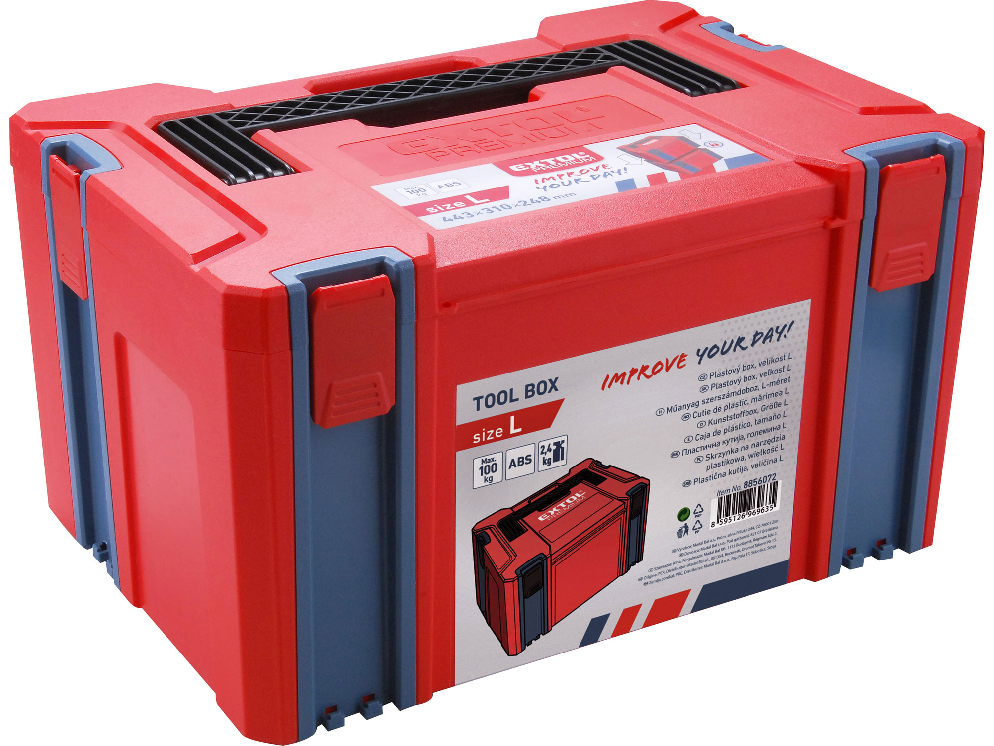 Box plastový, L velikost EXTOL PREMIUM 8856072