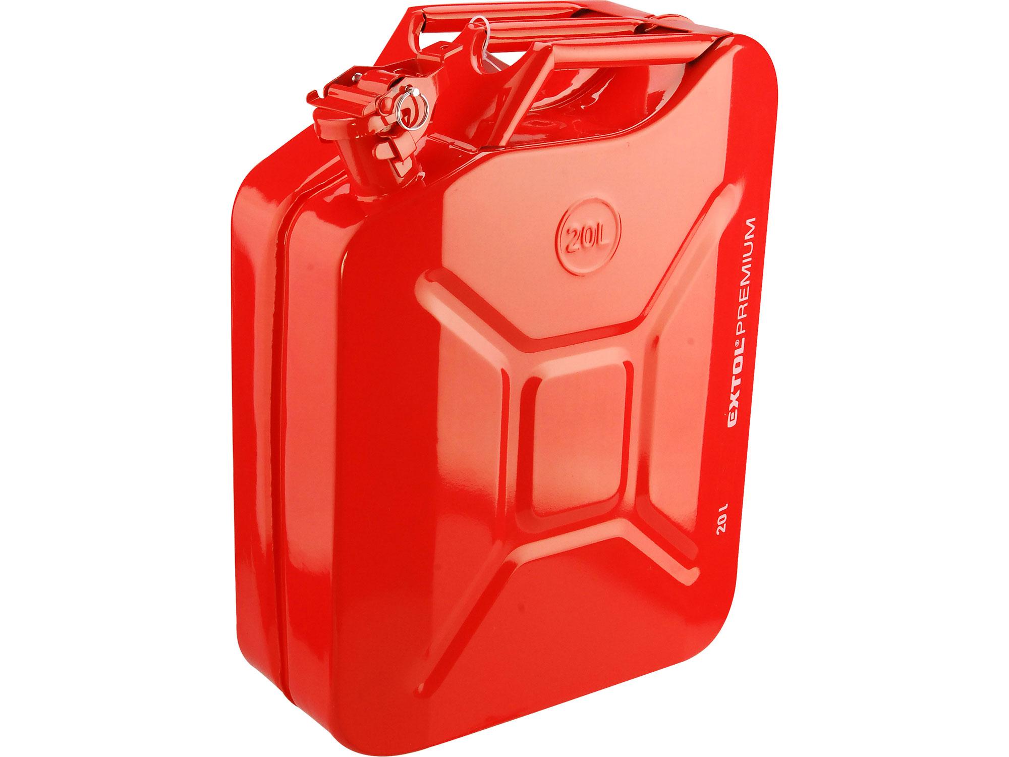 Kanystr ocelový na benzín, 20l EXTOL PREMIUM 8863200