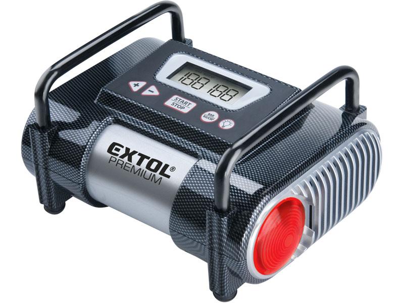 Kompresor auto 12V, automatický s LCD a světlem, 12V, 6,9bar CC 140 EXTOL PREMIUM 8864006