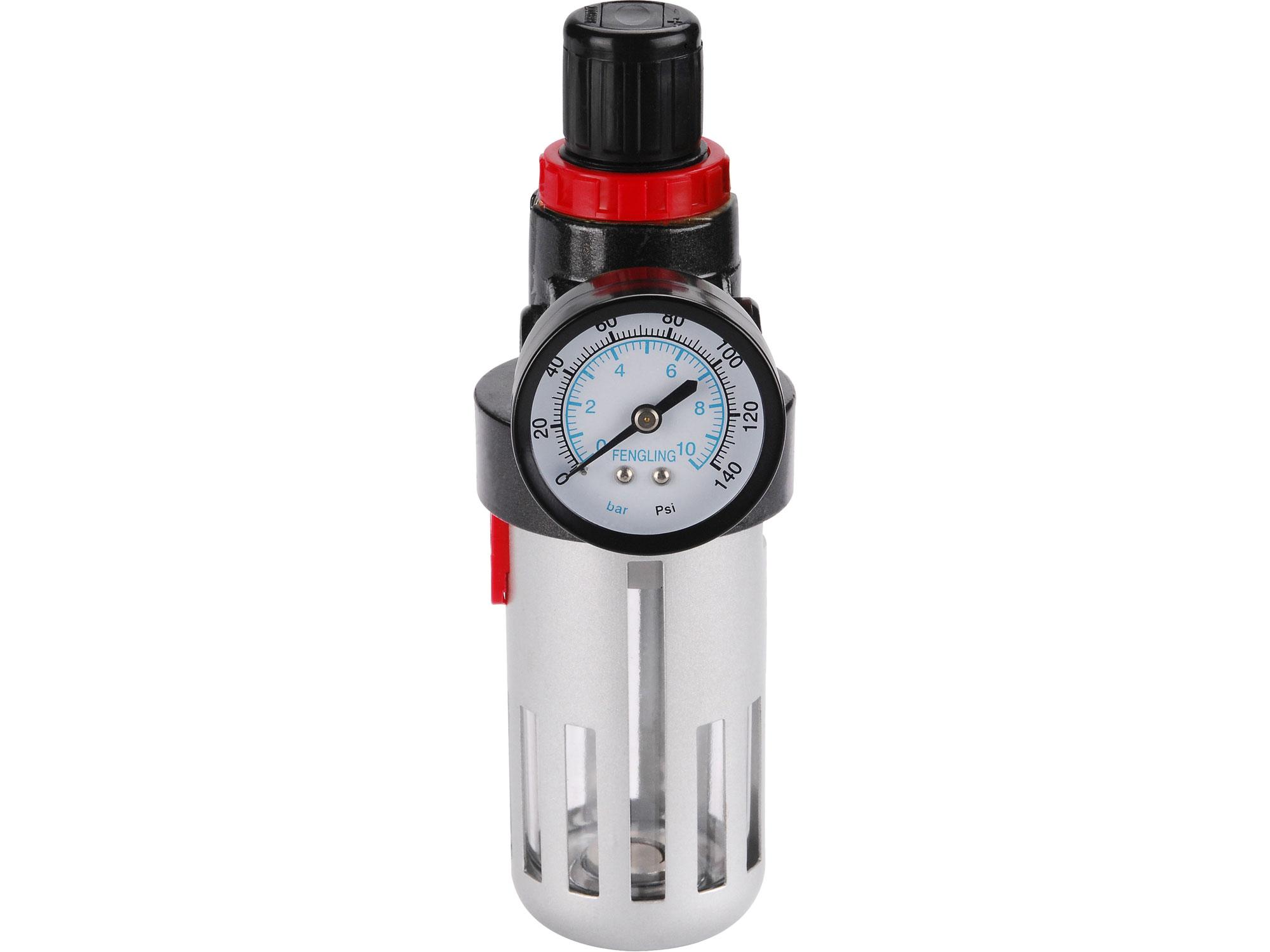 "Regulátor tlaku s olejovým filtrem s manometrem konektor 1/4"" EXTOL PREMIUM 8865104"