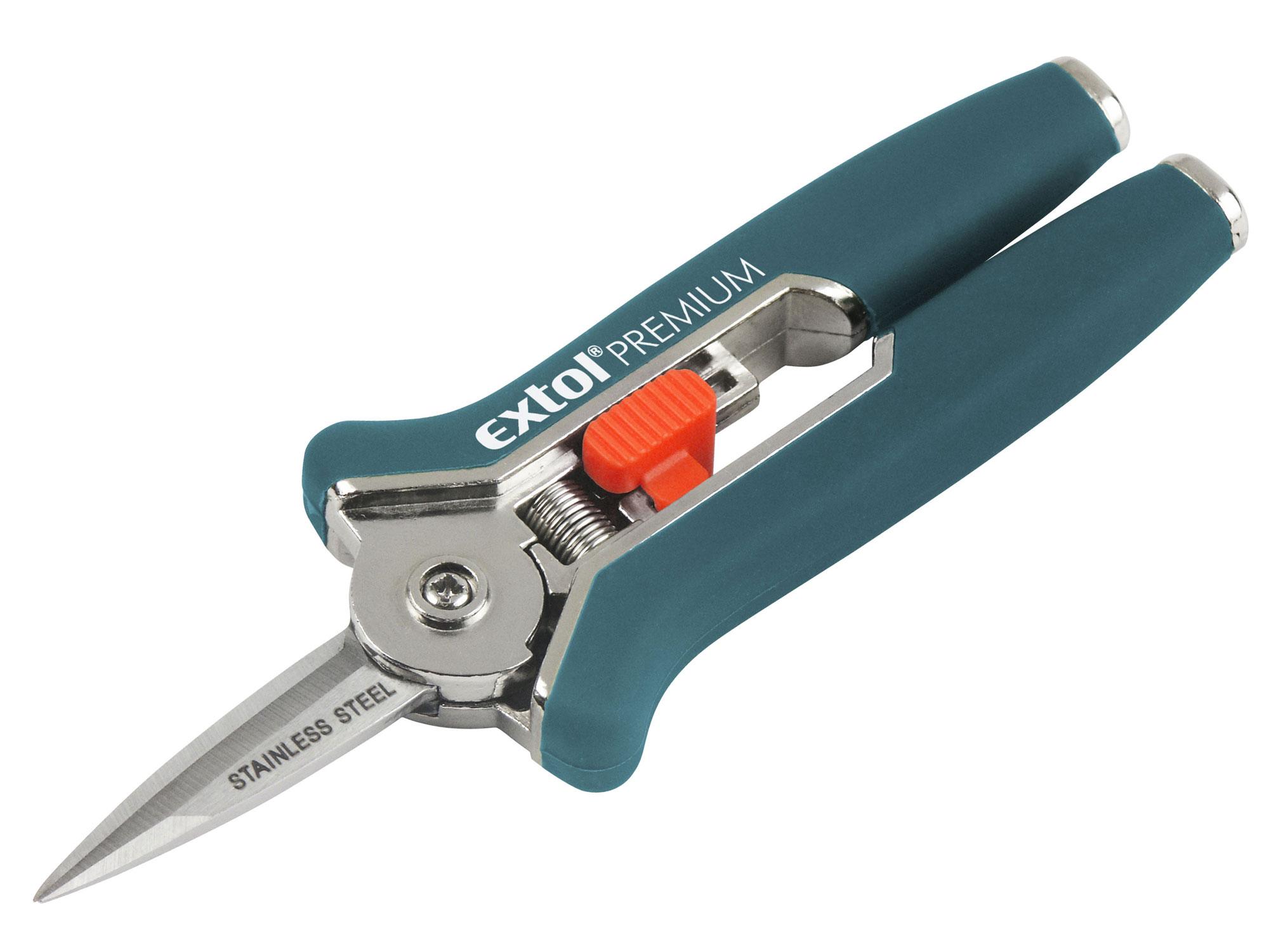Nůžky zahradnické přímé, mini, 153mm, NEREZ EXTOL PREMIUM 8872115