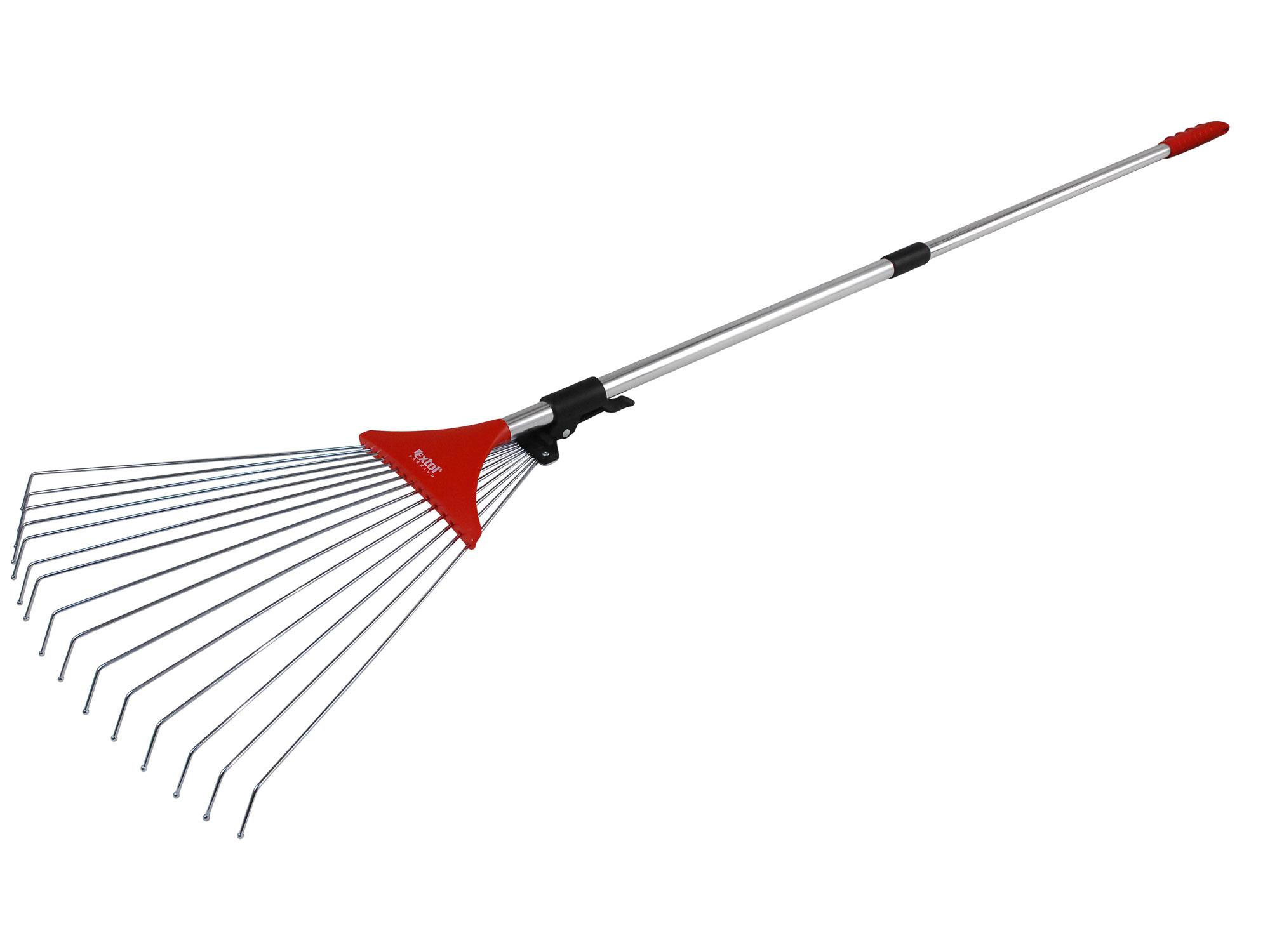Hrábe nastavitelné s teleskopickou násadou, délka 80-158cm, šírka 18-59cm EXTOL PREMIUM 88