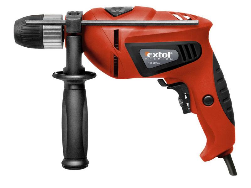 Vrtačka s příklepem HDS 550 CA EXTOL PREMIUM 8890011