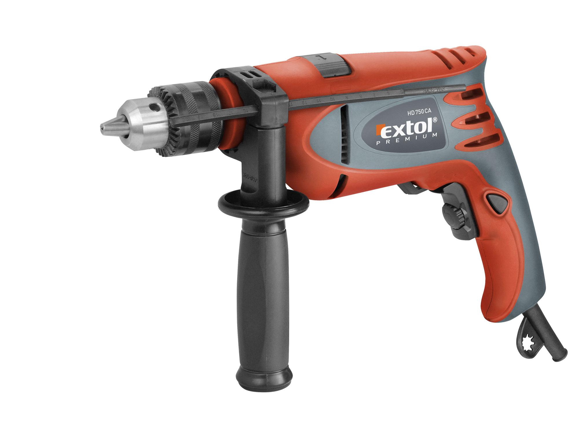 Vrtačka s příklepem HD 750 CA EXTOL PREMIUM 8890012