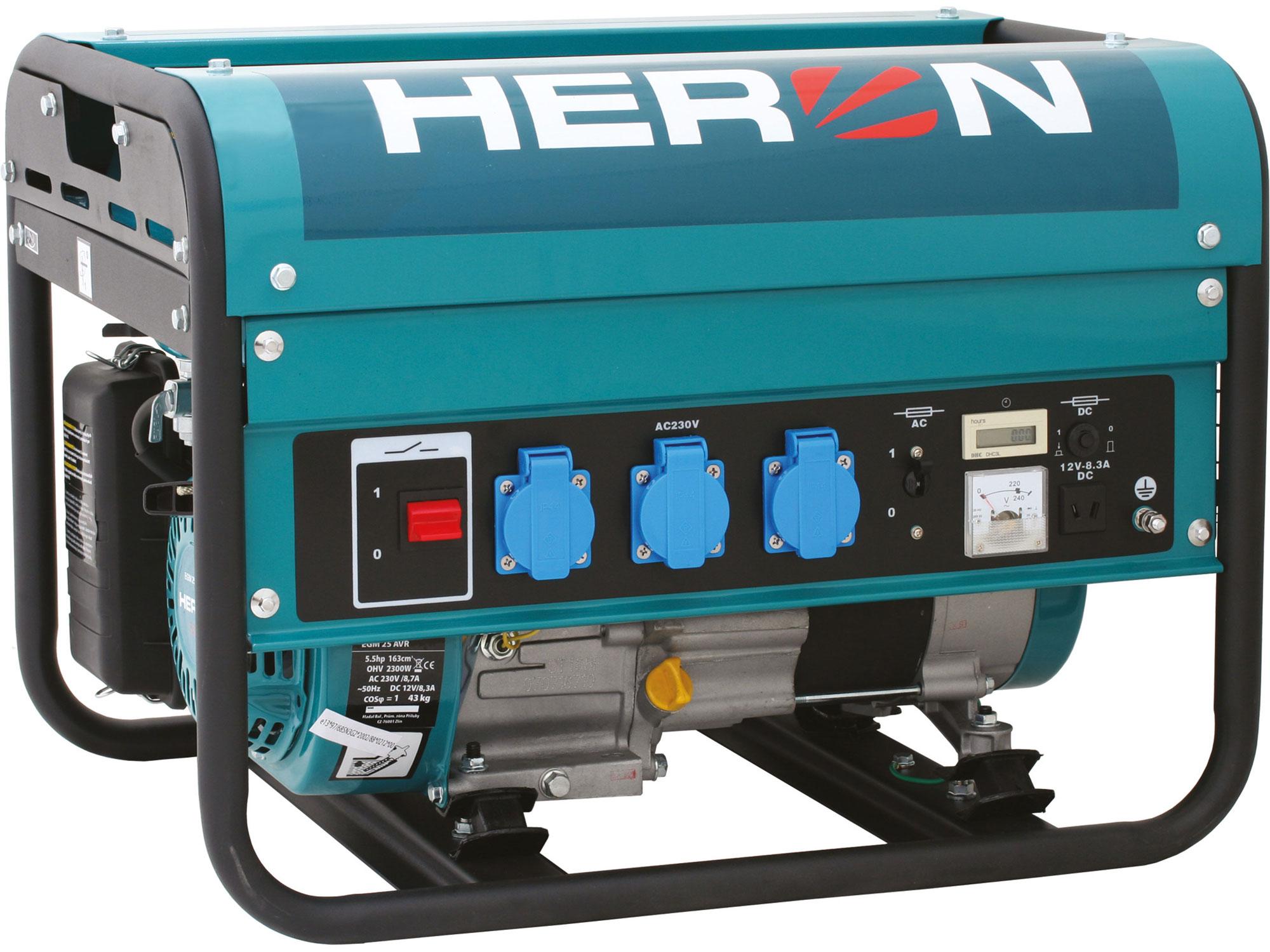 Elektrocentrála benzínová 5,5HP/2,3kW EGM 25 AVR HERON 8896111