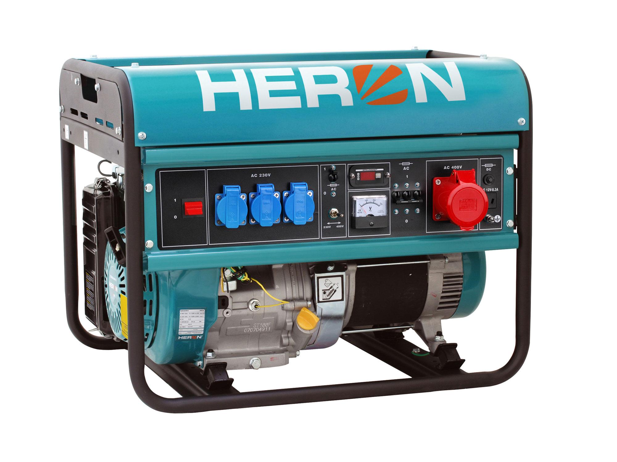Elektrocentrála benzínová 15HP/6,8kW (400V) 5,5kW (230V) EGM 68 AVR-3 HERON 8896118