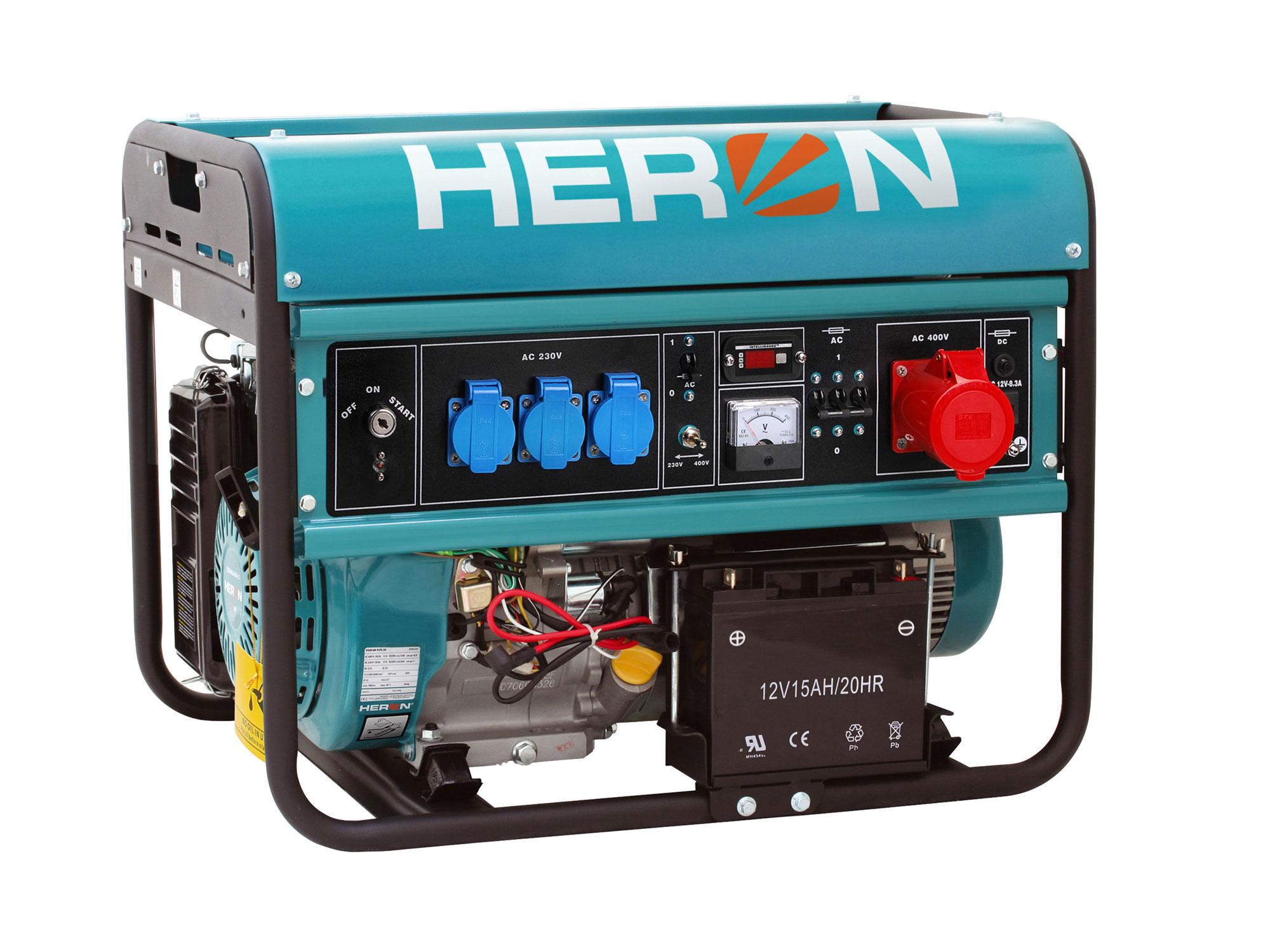 Elektrocentrála benzínová 15HP/6,8kW (400V) 5,5kW (230V), elektrický start EGM 68 AVR-3E H