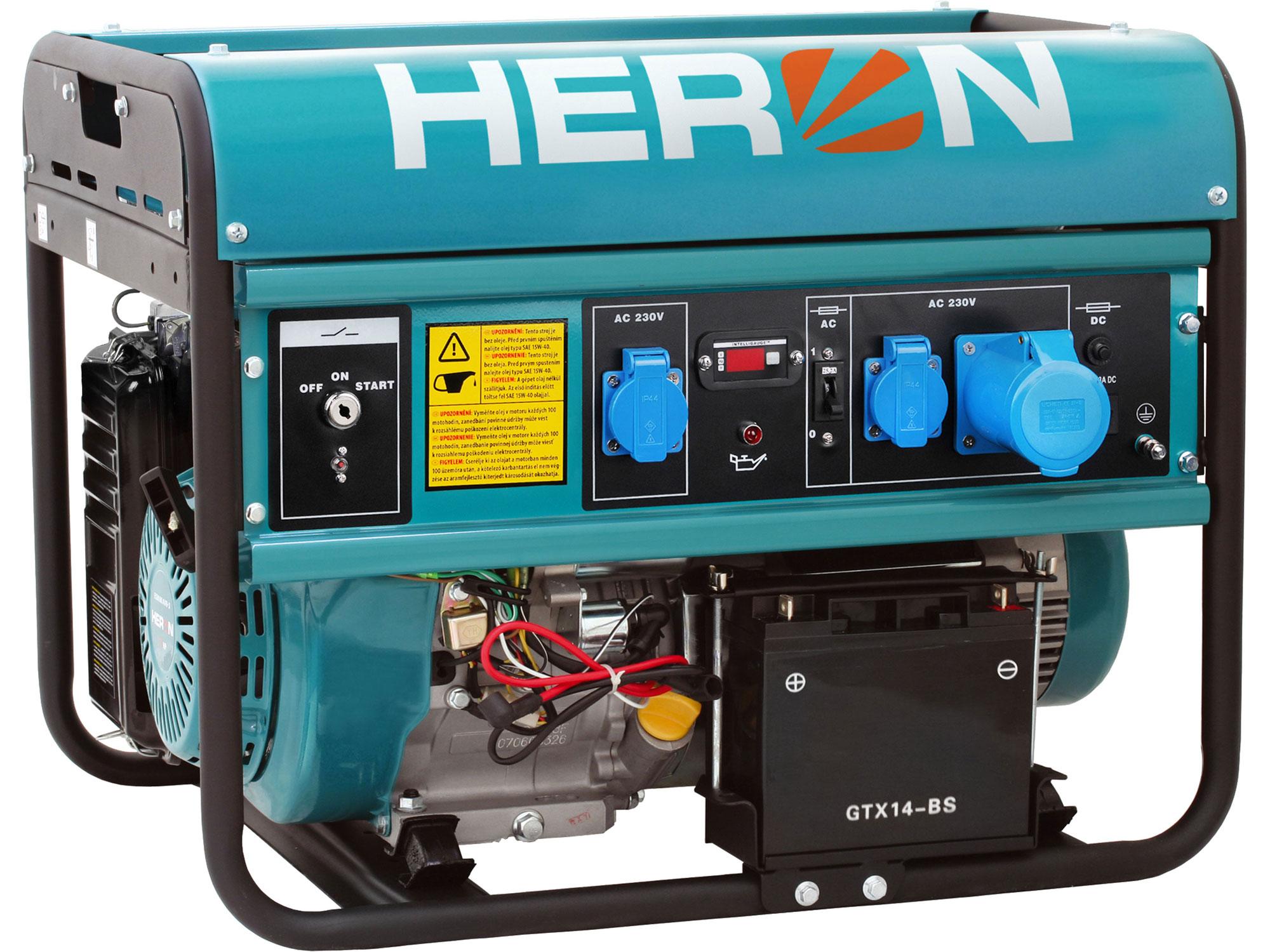 Elektrocentrála benzínová 15HP/7kW, elektrický start EGM 68 AVR-1E HERON 8896121
