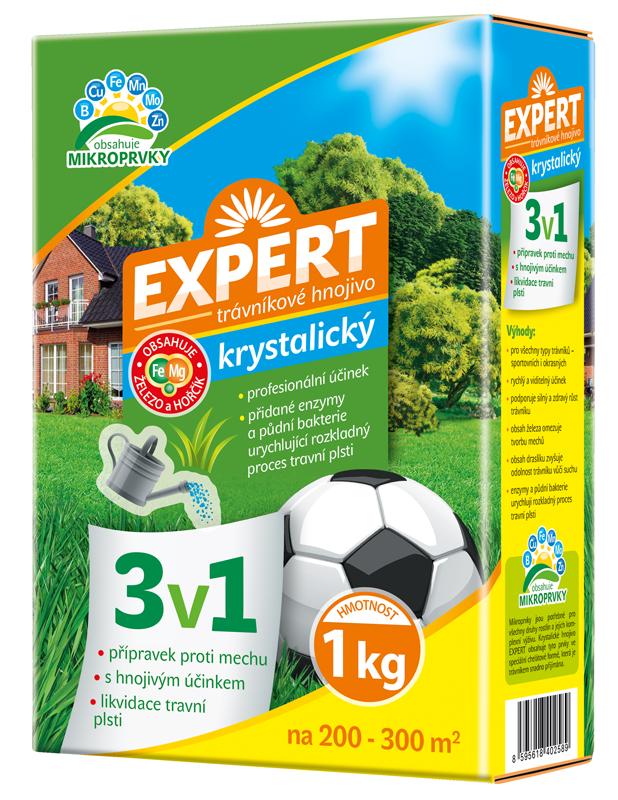 FORESTINA Trávníkové hnojivo EXPERT 3v1 proti mechu a likvidaci travní plsti 1 kg