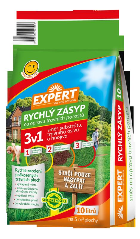 Travní hnojivo EXPERT - rychlý zásyp 10l FORESTINA