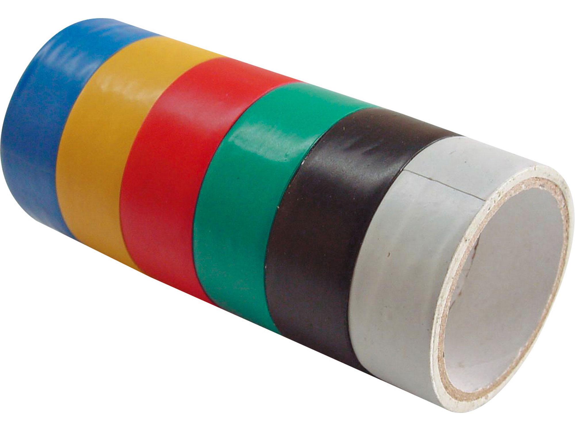 Pásky izolační PVC, sada 6ks, 19mm x 18m , (3m x 6ks) EXTOL CRAFT 9550