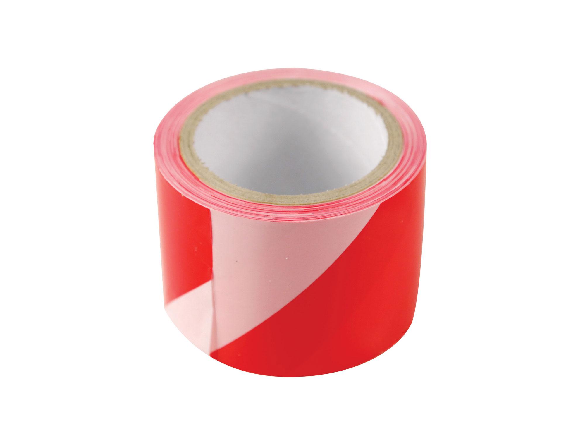 Páska výstražná červeno-bílá, 75mm x 250m, PE, s nápisem ZÁKAZ VSTUPU po celé délce pásky