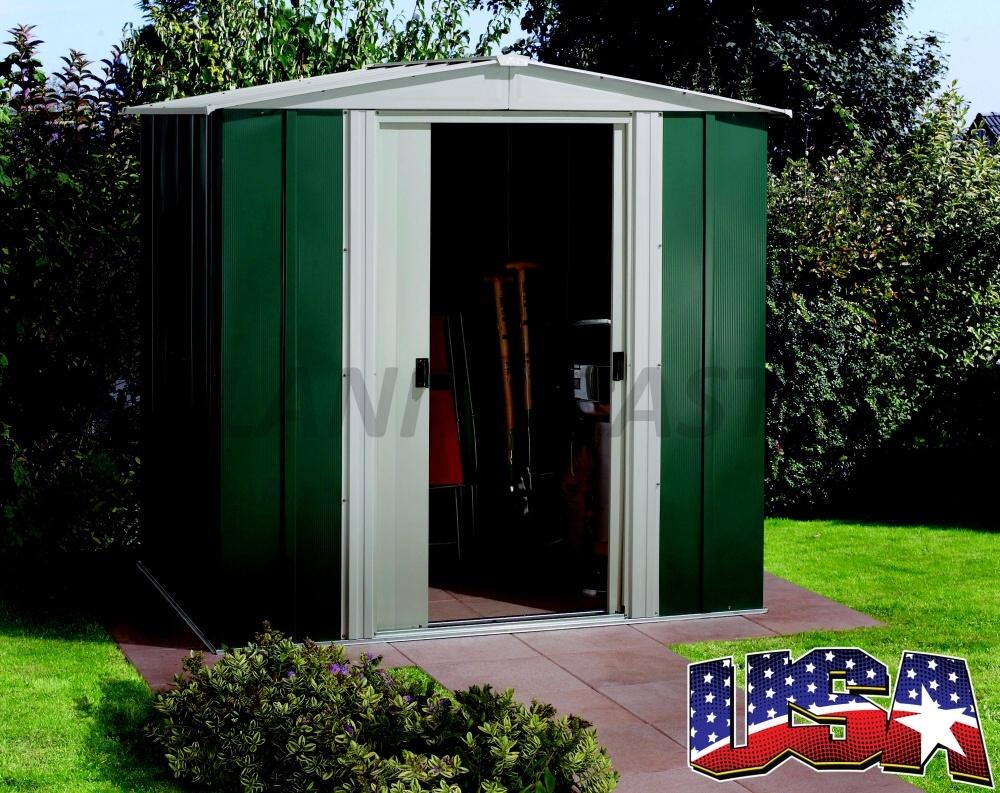 Kovový zahradní domek ARROW DRESDEN 65 (2,66 m2) zelený