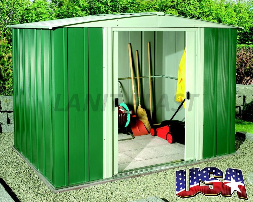 Kovový zahradní domek ARROW DRESDEN 86 (4,26 m2) zelený