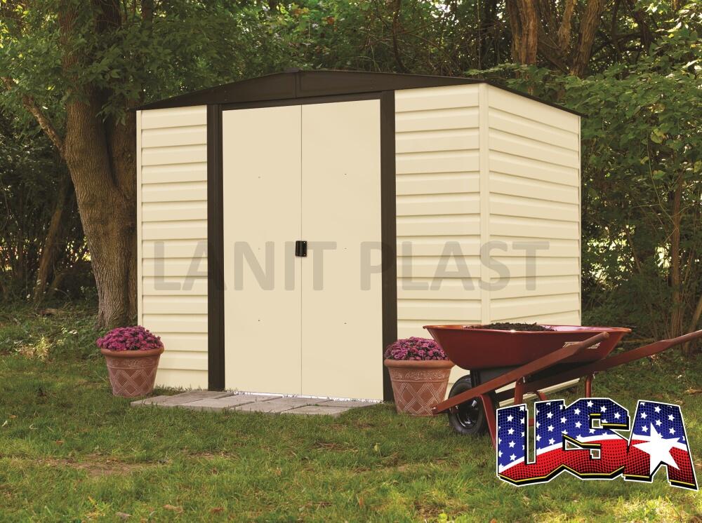 Kovový zahradní domek ARROW VINYL DALLAS 86 (4,26 m2)