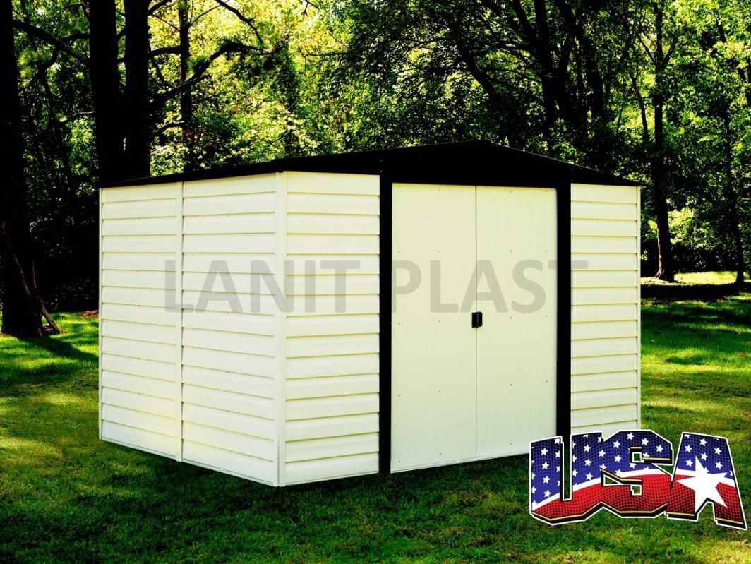 Kovový zahradní domek ARROW VINYL DALLAS 106 (5,28 m2)