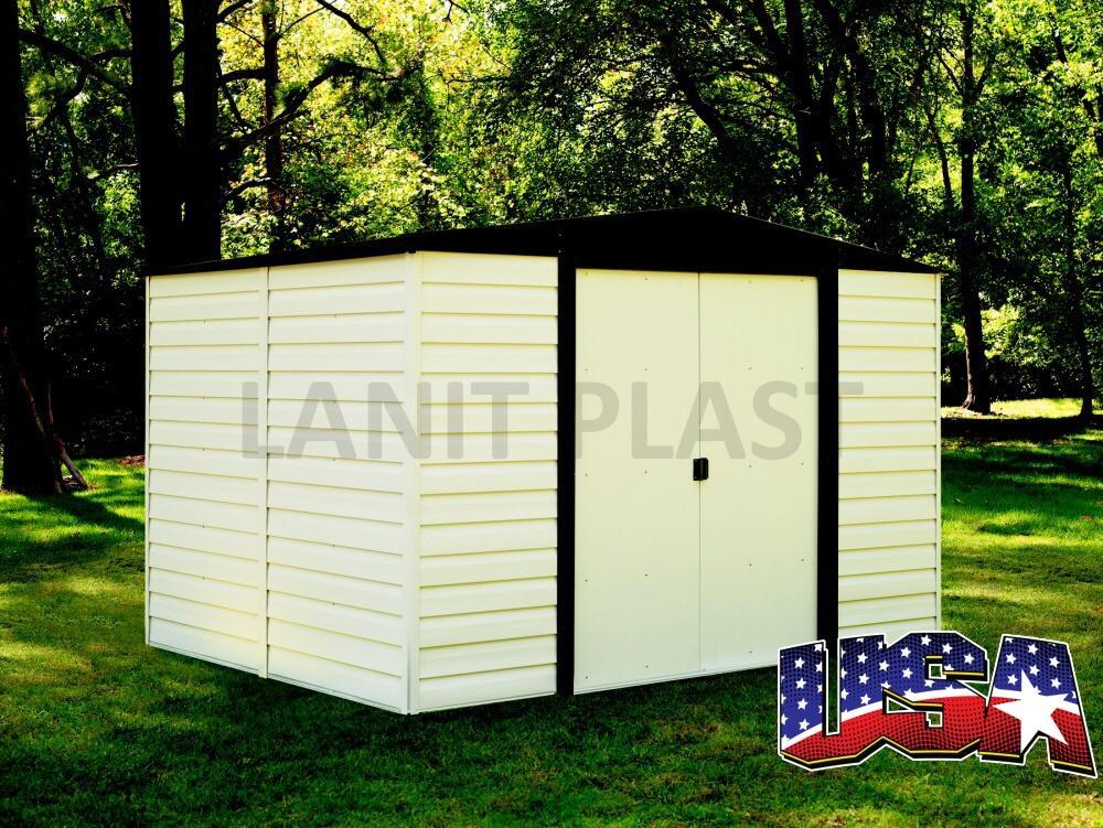 Kovový zahradní domek ARROW VINYL DALLAS 108 (7,14 m2)
