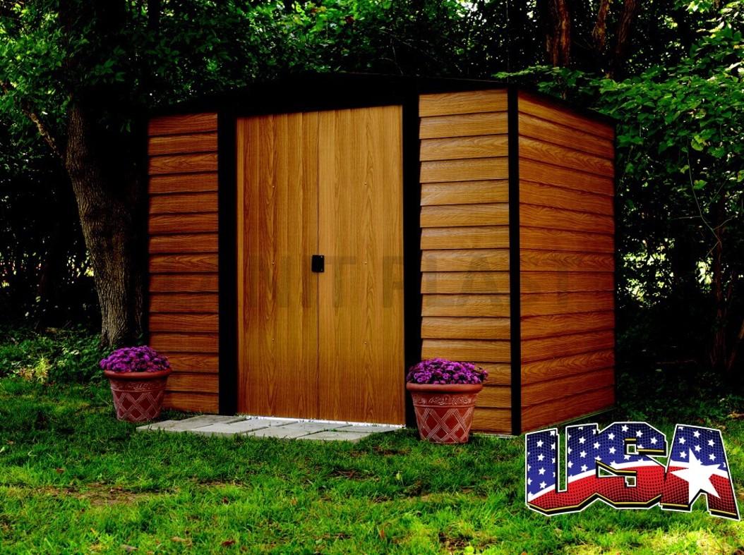 Kovový zahradní domek ARROW EURO DALLAS 65 (2,66 m2)