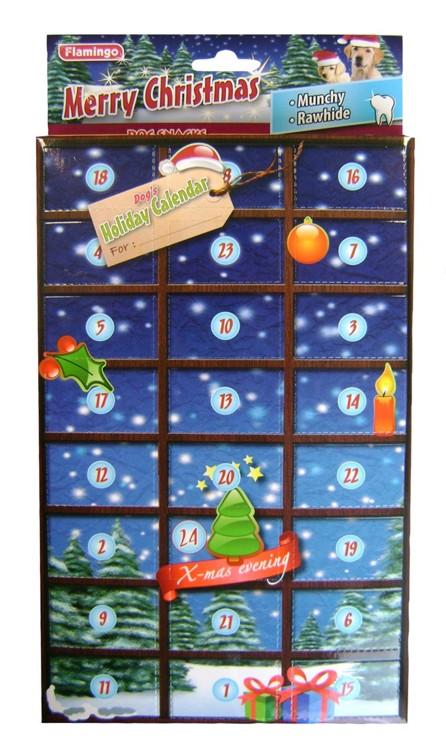 Karlie-Flamingo Adventní kalendář pro psy Buvolí kůže a MUNCHY