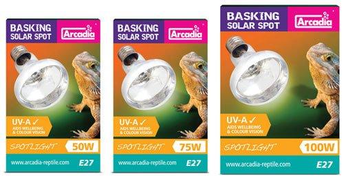 Arcadia Basking Solar Spot výhřevná žárovka do terária 75W