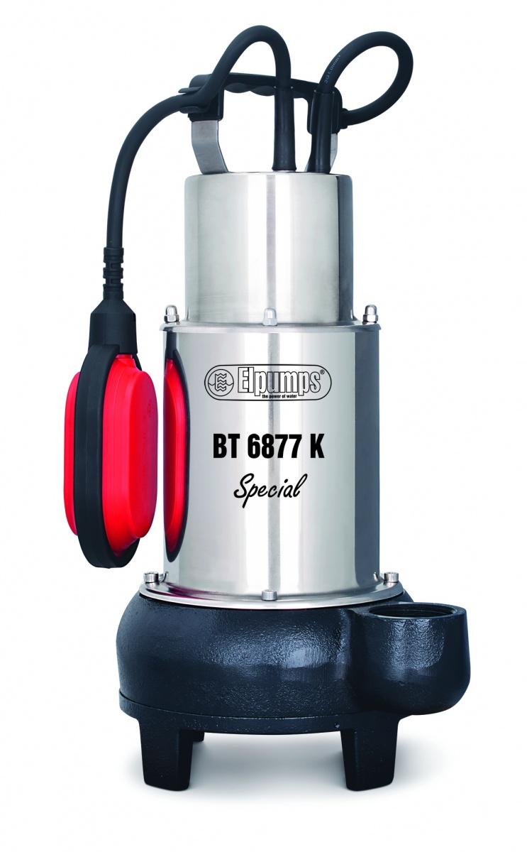 Kalové čerpadlo do septiku s oběžným kolem (s řeznými noži) ELPUMPS BT 6877 K Special