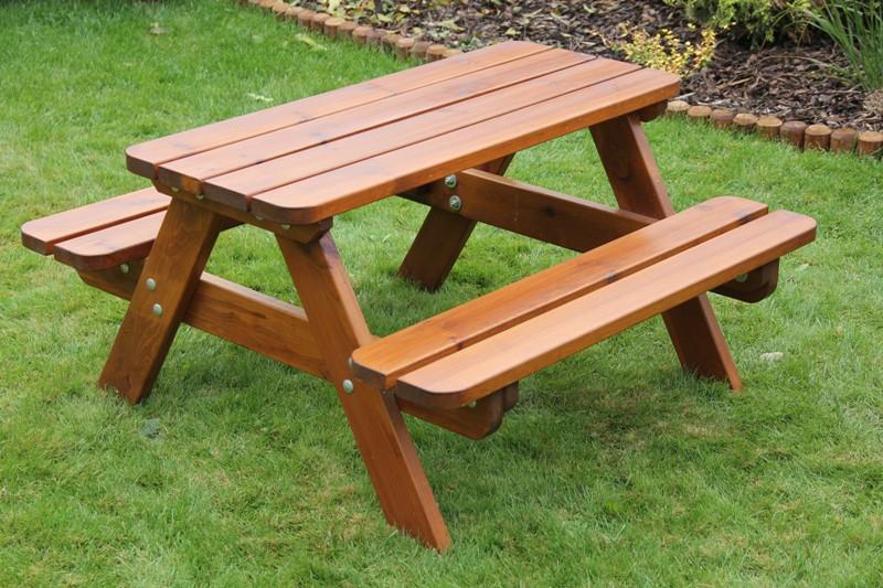 Zahradní dřevěný set Liška DĚTSKÁ HOSPODA slabá bez povrchové úpravy