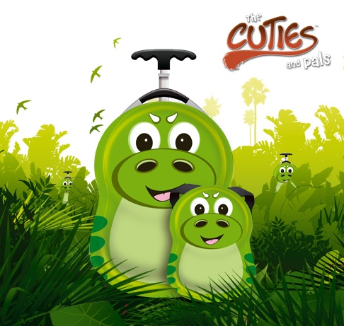CUTIES and PALS dětský batoh a kufřík dinosaurus