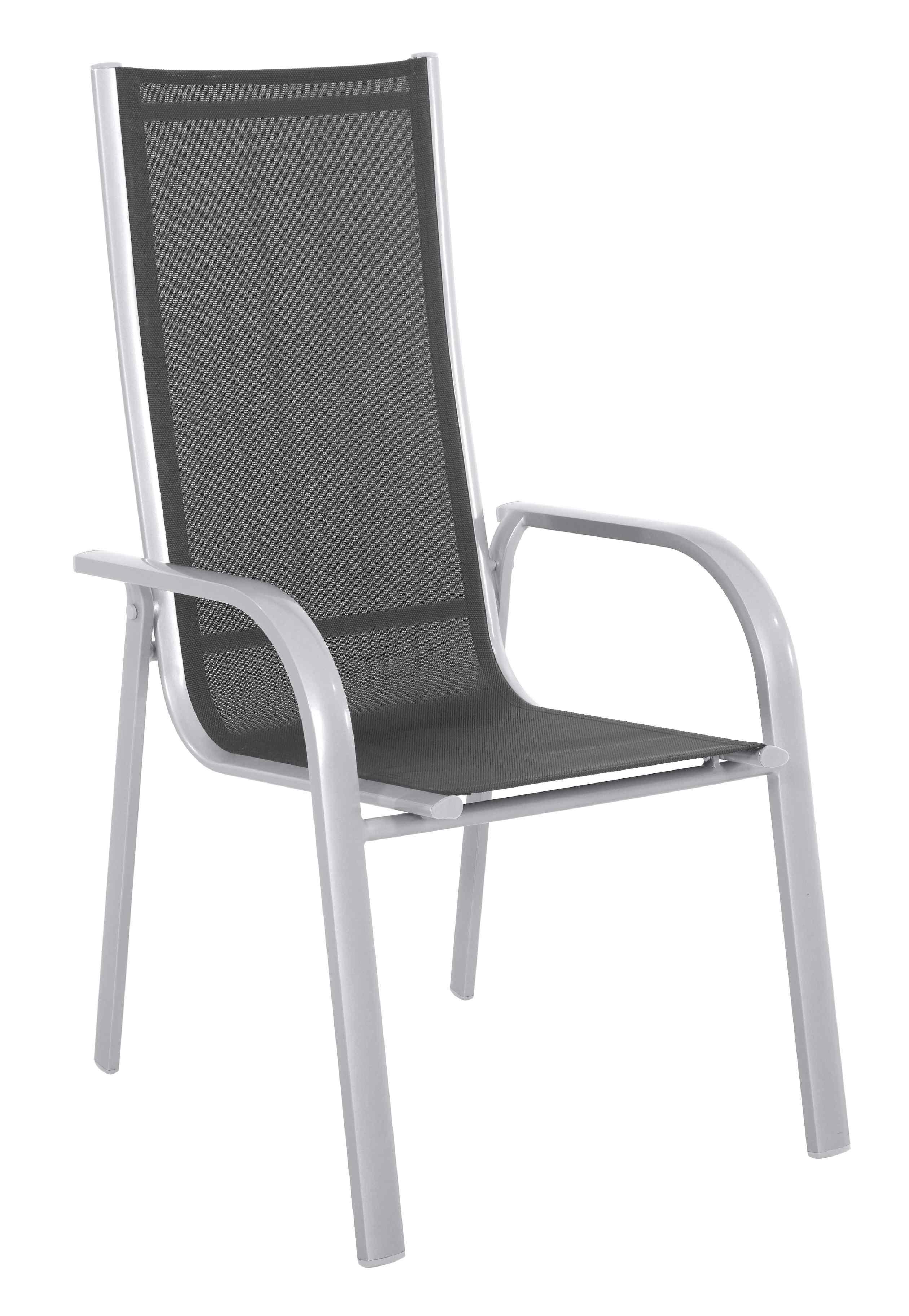 Hliníková stohovatelná židle 69 x 59,5 x 110 cm Creador Paola Standard