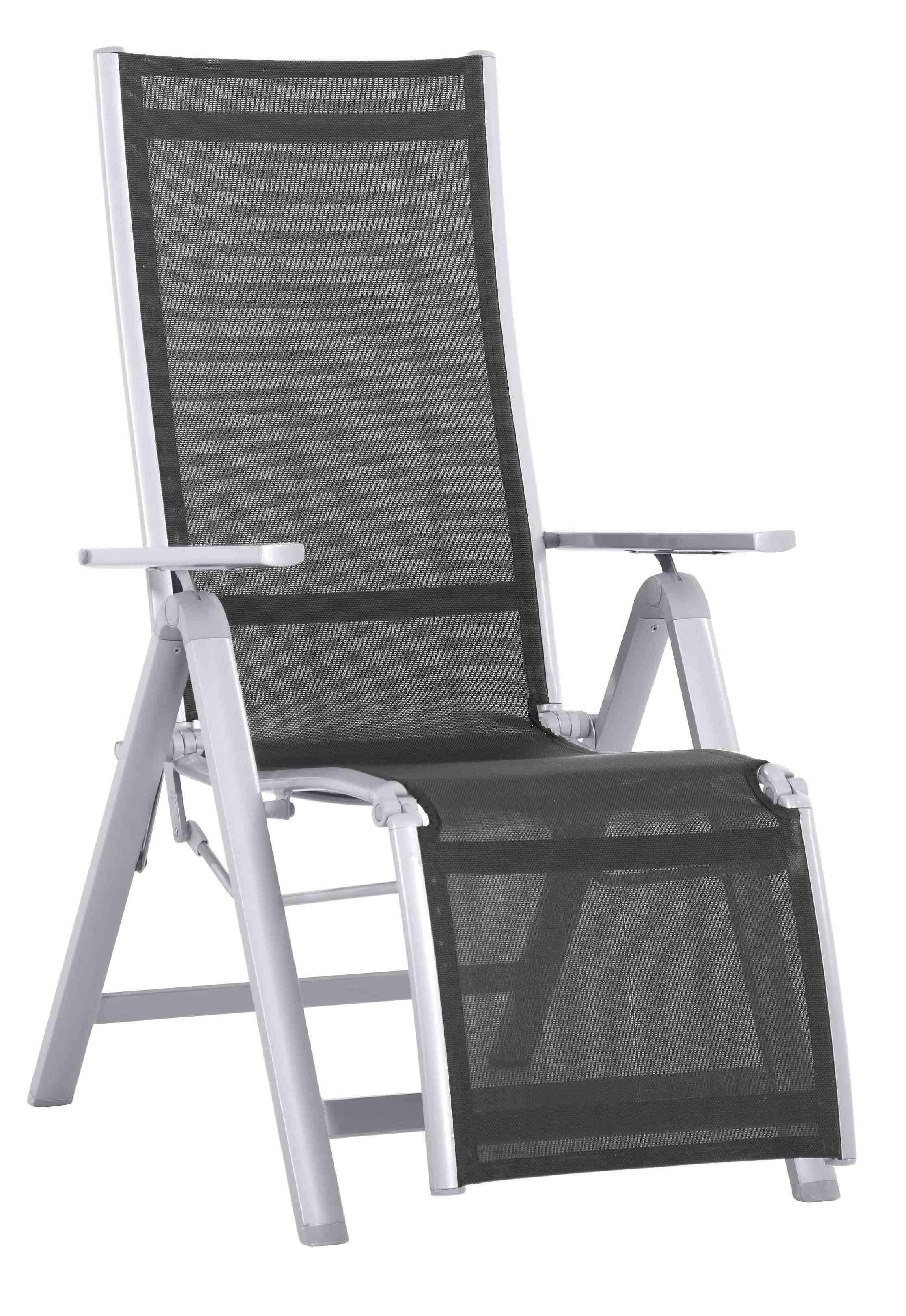 Hliníkové relaxační polohovatelné křeslo 230 x 95 x 74 cm Creador Evan LUX Comfort