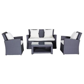Sestava nábytku z ratanu Creador Wicke 4+ grey lux