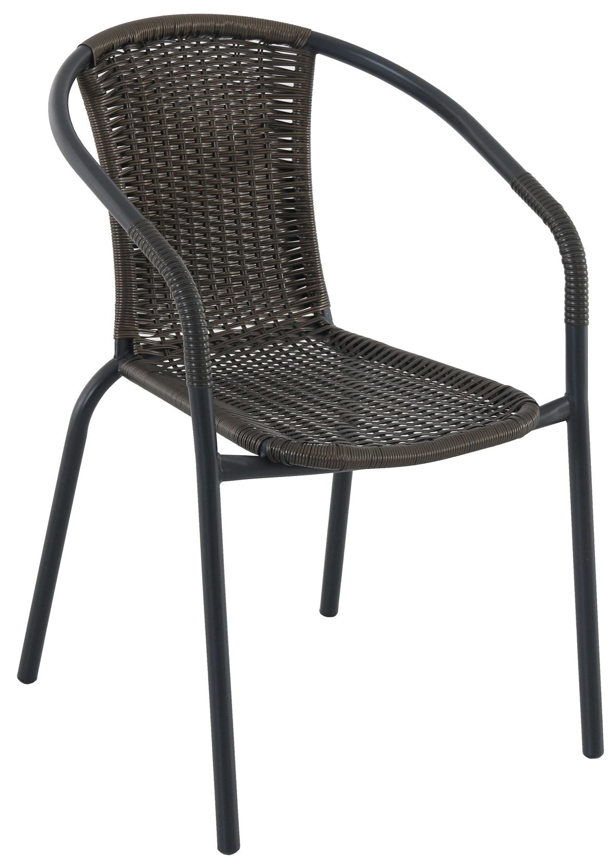 Kovová stohovatelná židle s ratanem Garland Pikolo