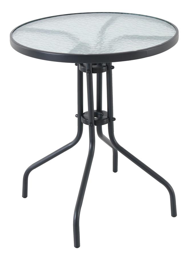 Kovový stůl se skleněnou deskou Garland Pikolo Round