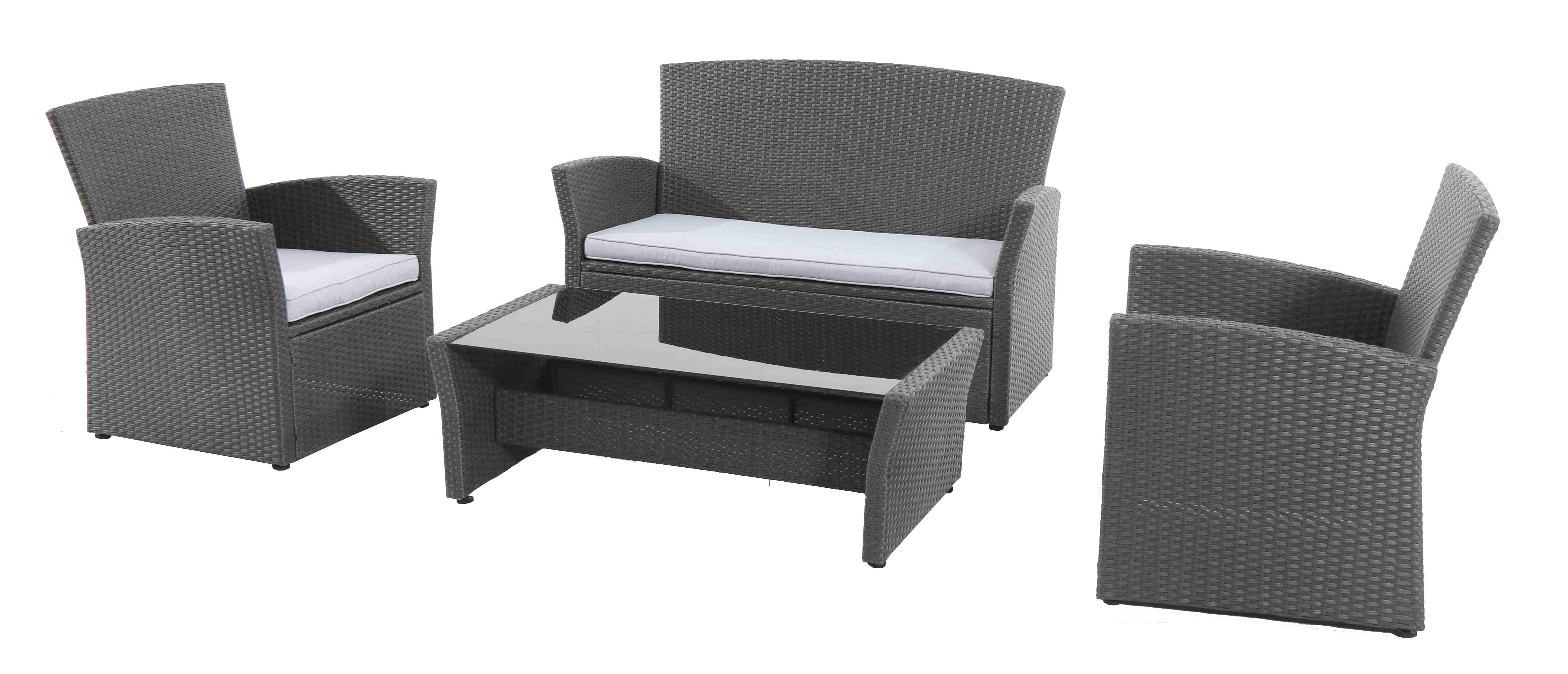 Sestava nábytku z ratanu Creador Wicke 4+ grey