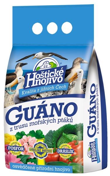 Hoštické guáno - granulované 2,5 kg FORESTINA