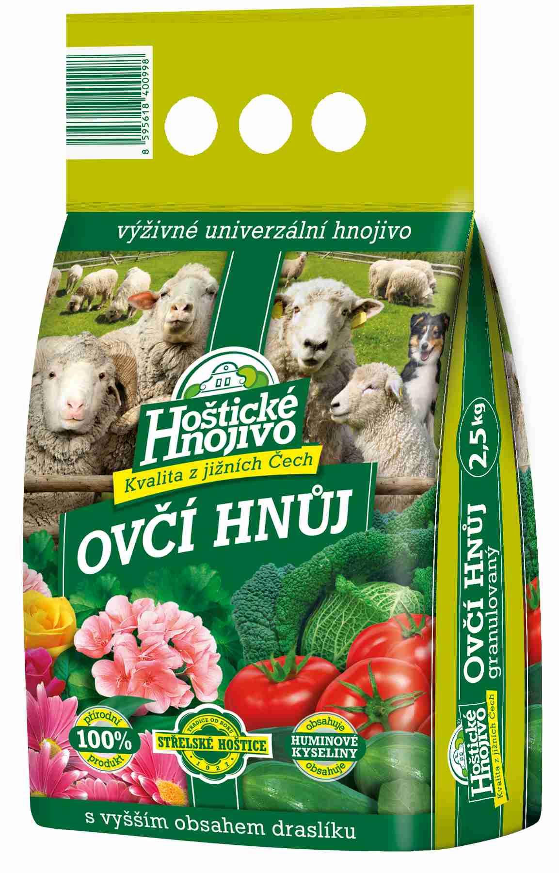 Hoštický ovčí hnůj 25 kg FORESTINA