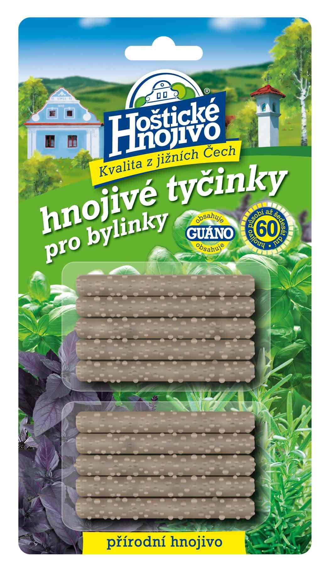 Hoštické hnojivé tyčinky na bylinky 10 ks