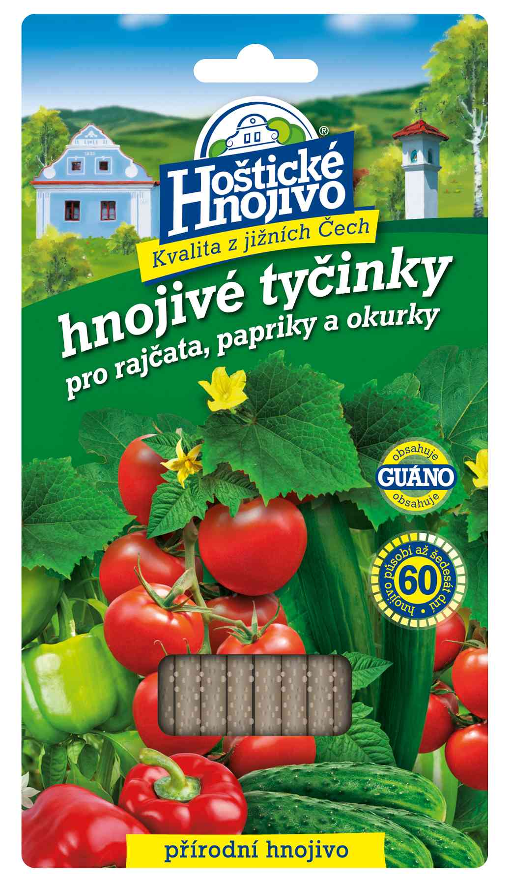 Hoštické hnojivé tyčinky na rajčata, papriky a okurky 20 ks FORESTINA