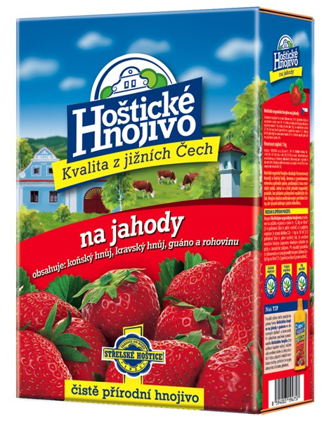 Hoštické hnojivo na jahody - čistě přírodní 1 kg FORESTINA