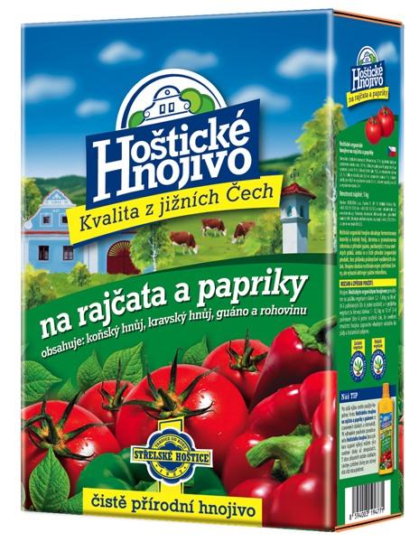 Hoštické hnojivo na rajčata a papriky - čistě přírodní 1 kg FORESTINA