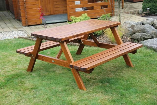 Zahradní dřevěný set Liška HOSPODA silná bez povrchové úpravy