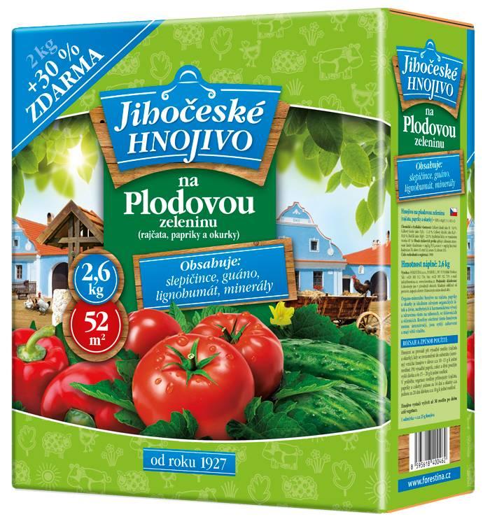 Jihočeské hnojivo na plodovou zeleninu 2 kg + 30% ZDARMA