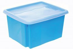 Keeeper Úložný box s víkem Emil & Emilia, modrý 15L
