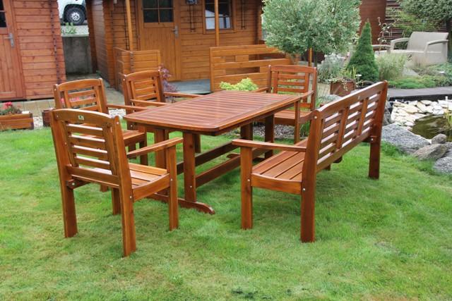 Zahradní dřevěný set Liška LONUS II. bez povrchové úpravy