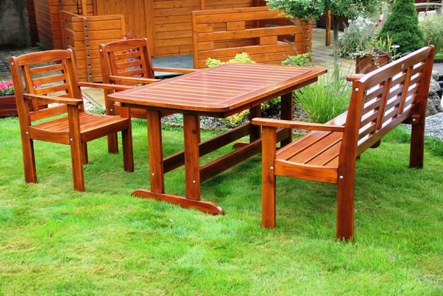 Zahradní dřevěný set Liška LONUS I. s povrchovou úpravou