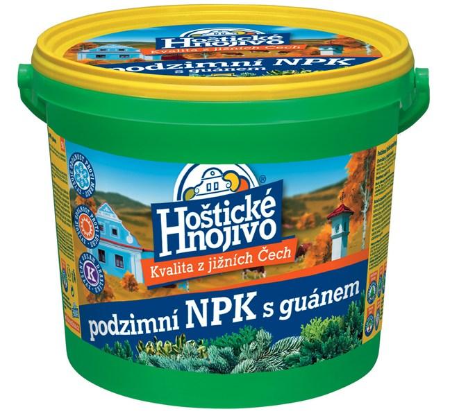 Hoštické podzimní NPK hnojivo s guánem - kbelík 4,5 kg FORESTINA