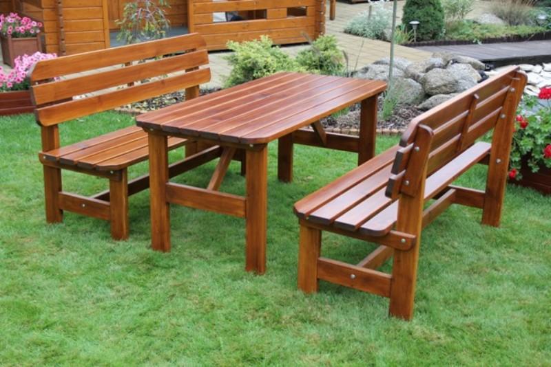 Zahradní dřevěný set Liška ORB I. bez povrchové úpravy