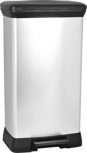 Curver odpadkový koš, DECO BIN, stříbrný, 50l