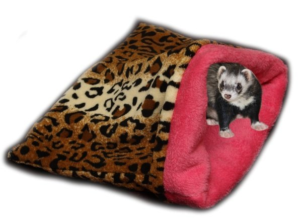 Marysa pelíšek 3v1 pro fretky - leopard/tmavě růžový
